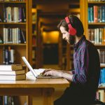 Law Student Studying in Library