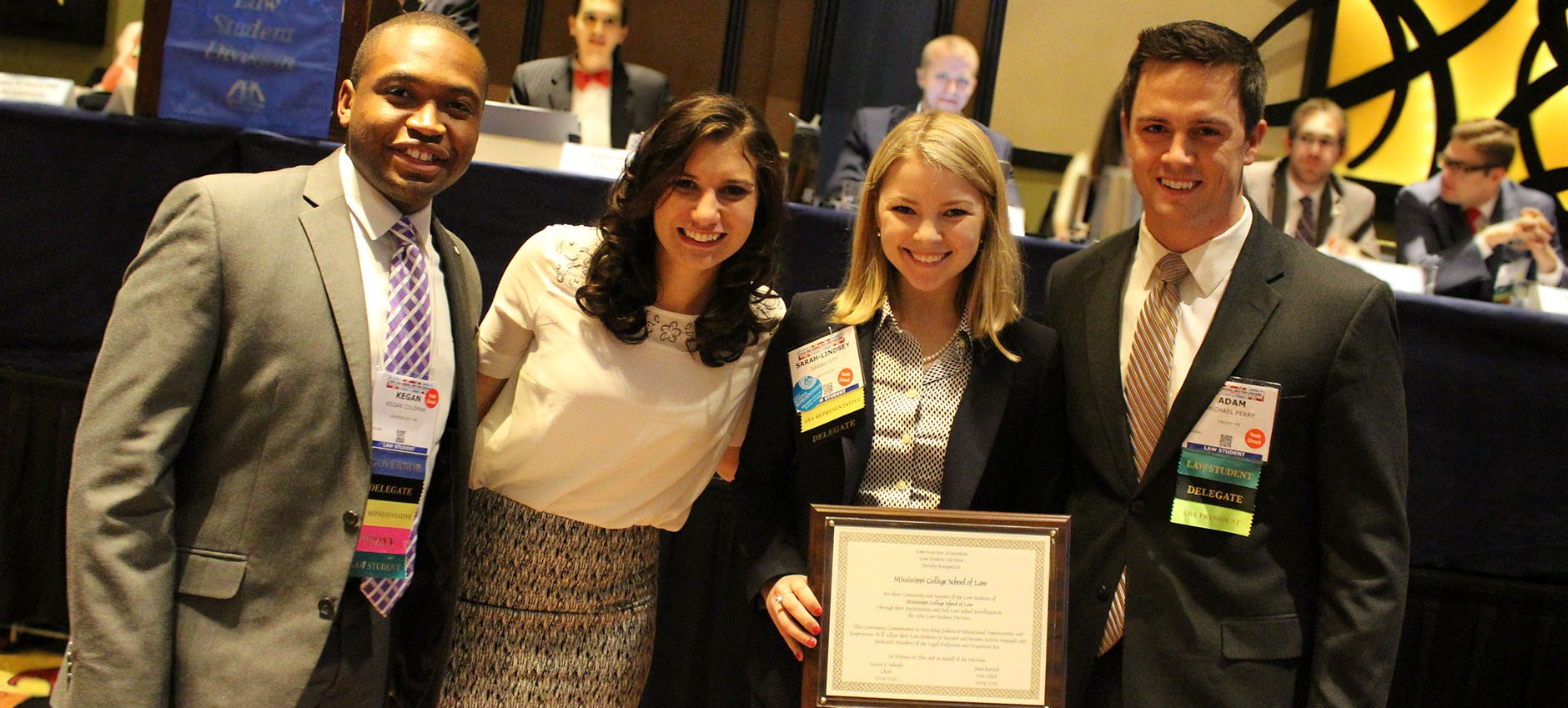 Law students receiving awards at ABA Annual Meeting.
