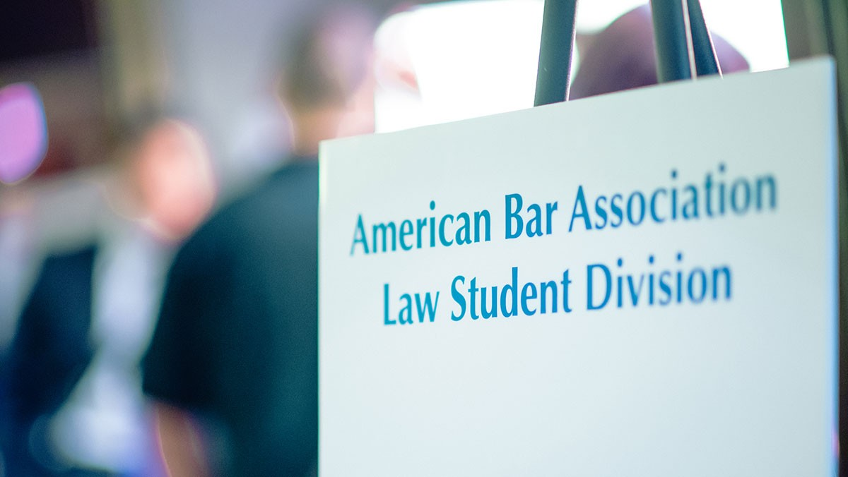 Law Student Division sign