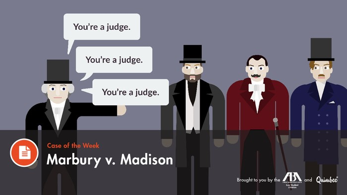marbury v madison brief Marbury v madison 5 us 137 (1803) [marbury was appointed a justice of the peace, a minor judicial officer, in the district of columbia, by.