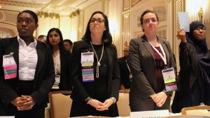 Members of the Law Student Division House of Delegates vote on resolutions at the 2016 ABA Annual Meeting in San Francisco.