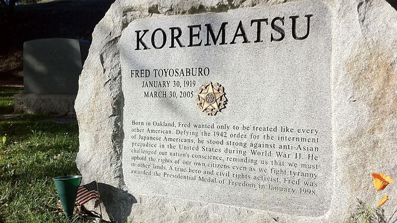 Image result for PHOTOS OF FRED T KOREMATSU JAPANESE INTERNMENT CASE