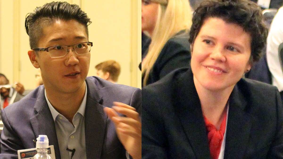 Thomas Kim and Meredith Parnell