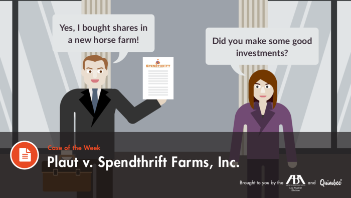 Quimbee Plaut v. Spendthrift Farms, Inc.