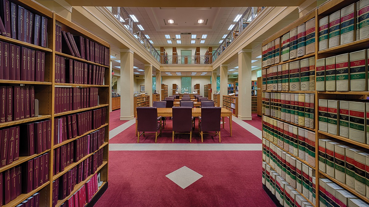 Inside of a law library