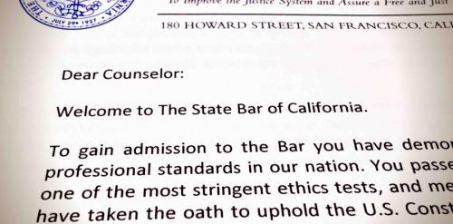State Bar Letter
