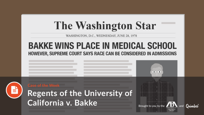 Regents of the University of California v. Bakke