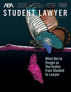 Student Laywer Magazine Cover