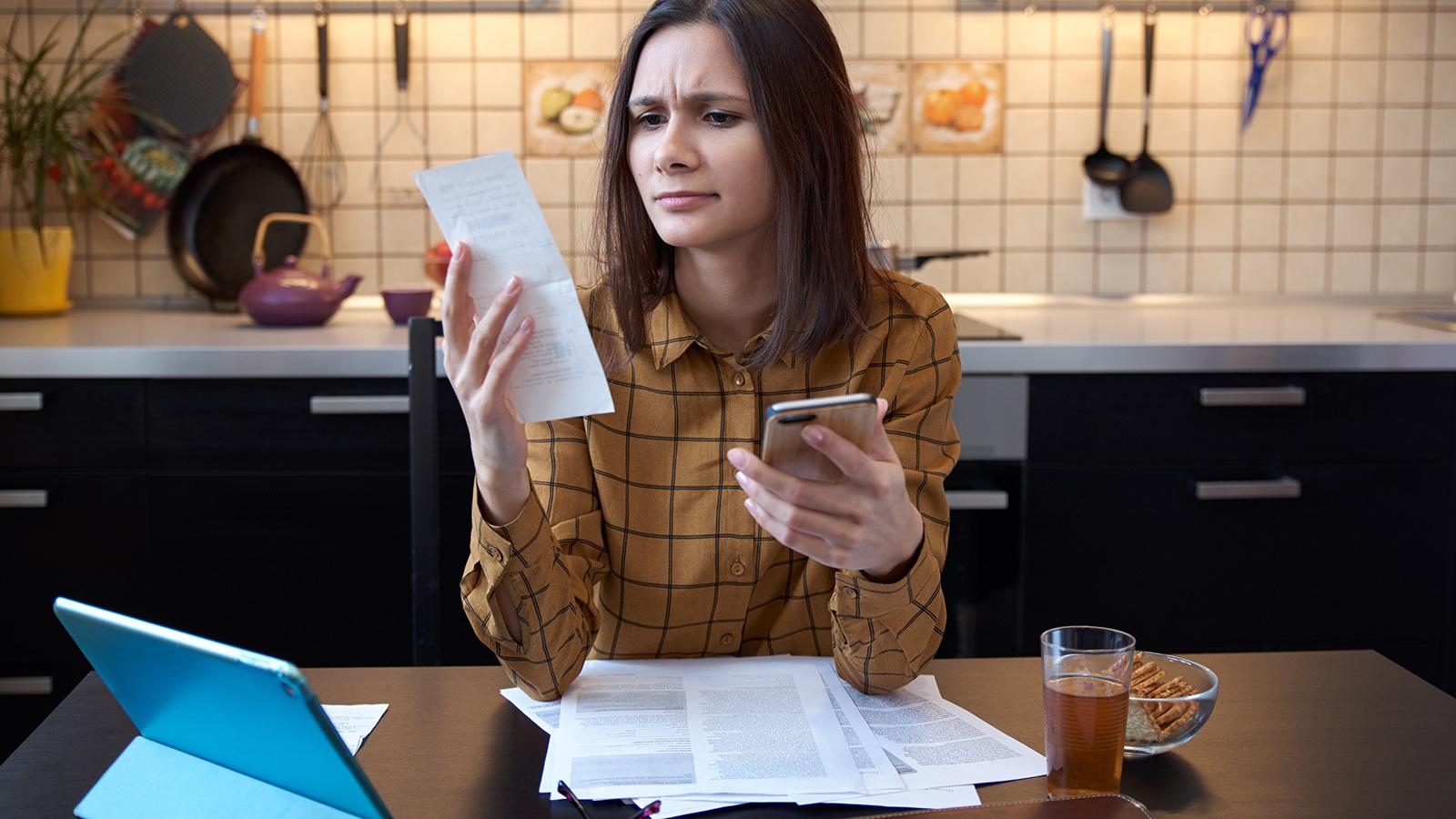 Woman Preparing a Budget