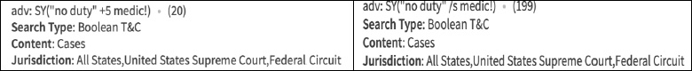 Search Results Filter Chart from Westlaw
