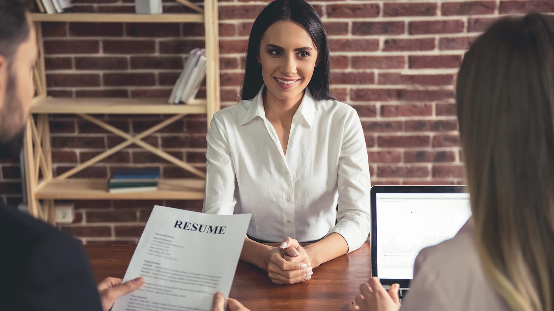 Job Seeker Sharing a Resume